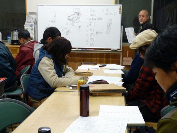 【初級講座】椅子の構造を学んでいます
